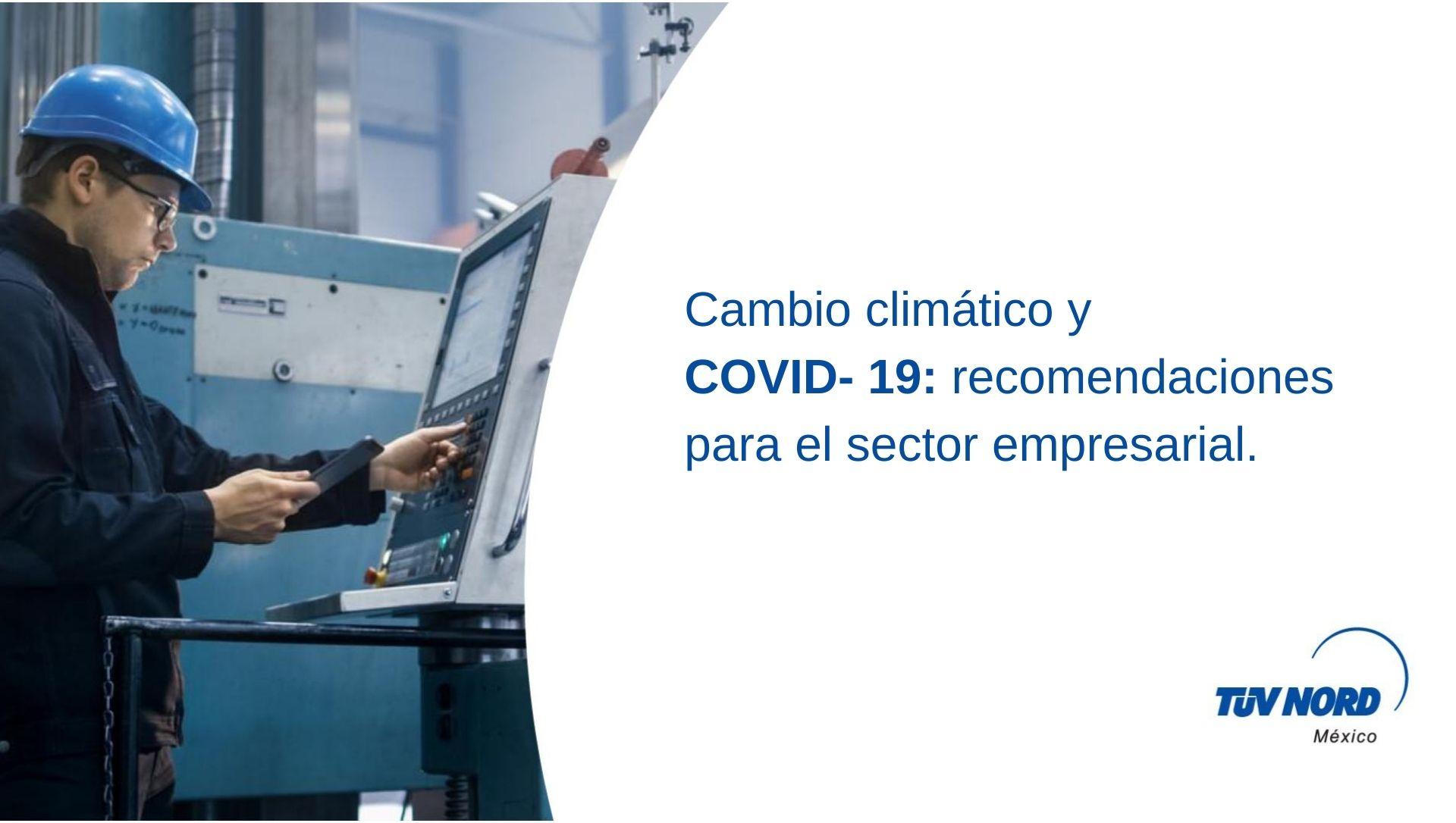 Cambio climático y COVID-19: recomendaciones para el sector empresarial.